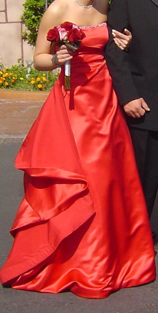 lee's red dress